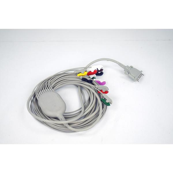 Schiller Switzerland 10 Wire Lead Patient Cable IEC 3.5m, Clip Type on