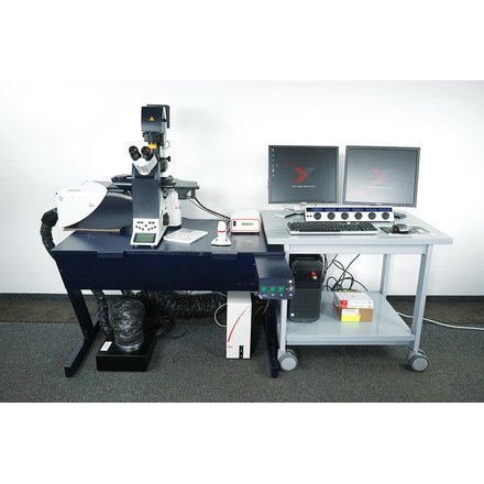Leica DMi6000B CS TCS SP5 Inverted Confocal Microscope Win10 LAS AF 273 License *Serviced*