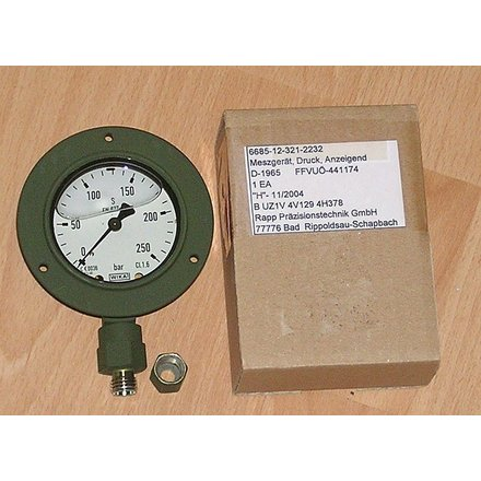Batch (10) Dial Gauge Manometer WIKA 0-250bar 63 mm CL.1.6 Silicon-Oil filled