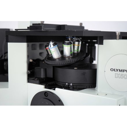 Olympus IX50 Inverted Fluorescence Phasecontrast Microscope U-MNU Xenon Light