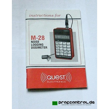 QUEST M-28 Noise Logging Dosimeter 30 - 146 dB A and C  UL Intrinsic Safety